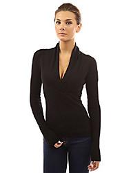 cheap -women's v neck empire line knit top (black 14)