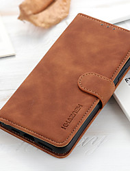 cheap -Phone Case For Motorola Full Body Case Leather Moto E7 MOTO G9 PLAY Moto G8 Moto G8 Power Moto G Power Moto G8 Power Lite Moto G Stylus Moto E6S (2020) MOTO ONE FUSION MOTO EDGE Shockproof Solid