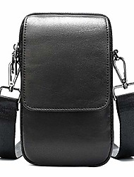 "cheap -cell phone crossbody wallet purse leather black, cell phone belt clip pouch men, 6.5"" leather cell phone holster bag men crossbody shoulder bag travel messenger bag belt pouch waist pack with zip"