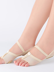 cheap -Women's Belly Shoes Ballet Shoes Flat Flat Heel Black Beige Elastic Band Adults'