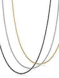 cheap -fibo stee 1.5mm stainless steel womens necklace for girls cable chain necklace set,18 inches