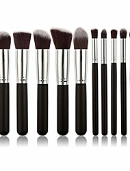 cheap -makeup brush 10pcs professional makeup brush set cosmetic brushes foundation eyeshadow. by  (color : black silver, size : one size)