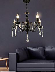 cheap -5-Light 58 cm Chandelier Metal Black Chic & Modern 110-120V 220-240V