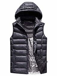 cheap -heated vest 3 heating modes adjustable electric body warmer washable usb heated waistcoat suit for outdoor sports hiking golf,xl