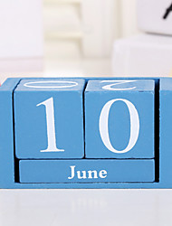cheap -Rectangular Mini Wooden Calendar Decoration