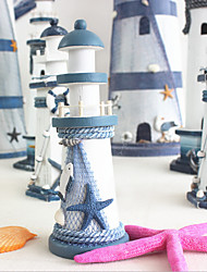 cheap -Mediterranean Wood And Iron Candlestick Lighthouse Bar Decoration Table Small Ornaments Handicraft