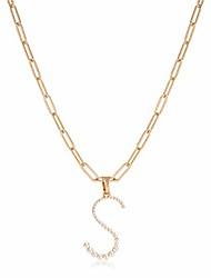 cheap -pearl initial necklace for women (letter s)