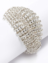 cheap -Women's Bracelet Classic Blessed Stylish Rhinestone Bracelet Jewelry Gold / Silver For Wedding Daily