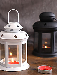 cheap -European Style Portable Candlestick Girl's Heart Iron Wind Lamp Aromatherapy Candlestick Hollowed Out Star Ornament