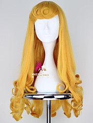 cheap -halloweencostumes Synthetic Wig Princess Sleeping Beauty Curly Side Part Wig Long Blonde Synthetic Hair 24 inch Women's Cosplay Comfy Blonde