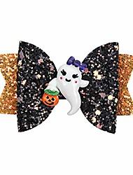 cheap -halloween glitter spider hair bow for girls party dance halloween barrettes flower hair accessories ghost hairpin headdress cartoon hairgrips (ghost)