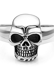 cheap -sterling silver vintage gothic skull head band ring men women unisex size 7