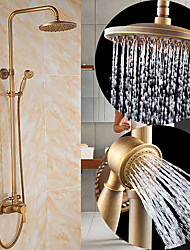 cheap -Shower System Set - Rainfall Antique Antique Copper Shower System Ceramic Valve Bath Shower Mixer Taps