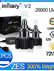 cheap -Infitary 2pcs H1 H3 H7 H11 9005 9006 3570 Chip LED Car Headlight 72W 6500K Auto LED Car Light