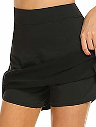 cheap -women's active skorts skirt quick-drying sports shorts with pockets female running tennis skirt with shorts lightweight golf workout shorts with shorts