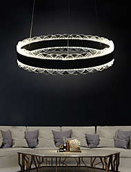 cheap -1-Light 40 cm Creative / Adjustable / Dimmable Chandelier Aluminum Acrylic Circle / Geometrical / Novelty Painted Finishes Contemporary / LED 110-120V / 220-240V