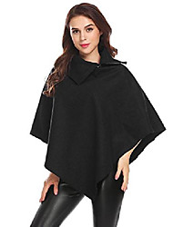 cheap -women's batwing cape wool poncho jacket warm worsted cloak coat