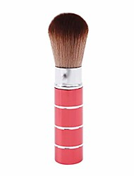 cheap -soft makeup brush retractable pro foundation cosmetic blusher face powder brushes beauty tools(red)