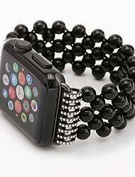 cheap -1 PCS Watch Band for Apple iWatch Jewelry Design Elastic Beaded Wrist Strap for Apple Watch Series 6 / SE / 5/4 44mm Apple Watch Series 6 / SE / 5/4 40mm Apple Watch Series 3/2/1 38mm Apple Watch