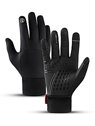 cheap -Winter Touch Gloves Anti-Slip Waterproof Warm Winter Sports Full Finger Gloves Sports Gloves Black Grey for Adults' Outdoor Exercise Cycling / Bike