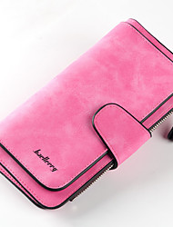 cheap -Unisex Bags PU Leather Wallet Solid Color Daily Office & Career 2021 Black Blue Red Blushing Pink
