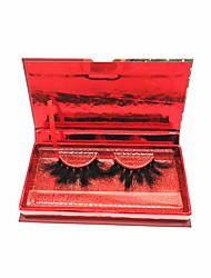 cheap -3D Mink Lashes Crisscross Christmas Box Makeup Eyelashes Fluffy Soft Wispy Volume Natural long Cross False Eyelashes Eye Lashes Reusable Eyelash Extension