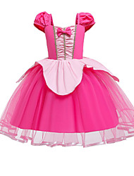 cheap -Princess Flapper Dress Dress Party Costume Girls' Movie Cosplay Cosplay Costume Party Fuchsia Dress Christmas Children's Day New Year Polyester Organza