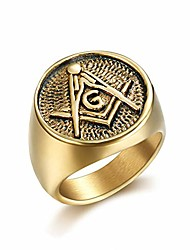 cheap -24k gold plated freemason symbol masonic stainless steel ring for men-hip hop rock jewelry (9)