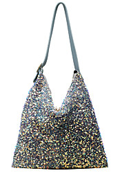 cheap -Women's Bags Polyester Synthetic Crossbody Bag Hobo Bag Glitter Sequin Sequin Daily Going out 2021 Handbags White Black Blue
