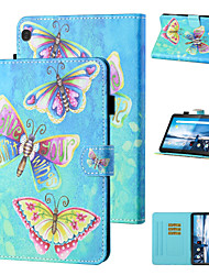 cheap -Phone Case For Lenovo Tablets Full Body Case M10 Plus TB-X606F Lenovo M10 TB-X605F TB-X505F Shockproof Cartoon Butterfly TPU