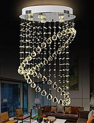 cheap -80cm Crystal Chandelier Ceiling Light Modern Globe Design DIY Modernity Luxury K9 Crystal Pendant Lighting Hotel Bedroom Dining Room Store Restaurant LED Pendant Lamp Indoor Lighting Stainless Steel