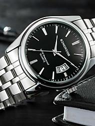 cheap -men's business watches quartz waterproof analog date stainless steel wristwatch