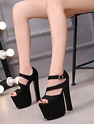 cheap -Women's Dance Shoes Pole Dancing Shoes Heel Slim High Heel Black Buckle Adults'