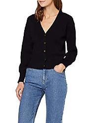 cheap -amazon brand - women's v neck cardigan, black (black), 20, label:3xl