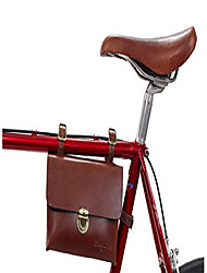 cheap -frame bag leather - firmin l. bicycle bag tool bag ladies men brown steel frame
