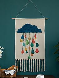 cheap -Hand Woven Macrame Wall Tapestry Hanging Bohemian Boho Art Decor Blanket Curtain Home Bedroom Living Room Decoration Nordic Handmade Tassel Cotton 40x60cm