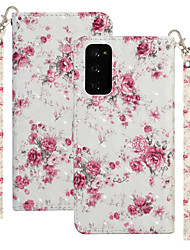 cheap -Case For Motorola MOTO One Vision / MOTO one action / Moto G8 Plus Shockproof Full Body Cases Flower PU Leather / TPU