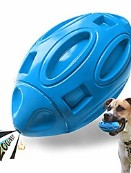 cheap -squeaky dog toys for aggressive chewers: rubber puppy chew ball with squeaker, almost indestructible and durable pet toy for medium and large breed