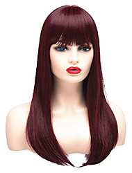 cheap -20 inches long straight ombre wigs for women synthetic full hair natural fashion wig with bangs fringe for cosplay costume or daily life (blonde)