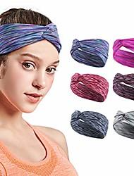 cheap -headbands for women, yoga running sports cotton headbands tie dye elastic non slip sweat headbands workout fashion hair bands boho headbands for girls