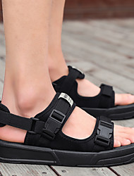 cheap -Men's Sandals Casual Beach Daily Outdoor Elastic Fabric Breathable Wear Proof Black Gray Fall Summer