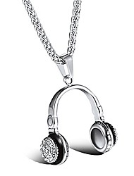 cheap -personalized dj gift stainless steel rhinestone iced out wireless headphone pendant