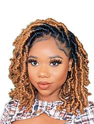 cheap -Ombre Hair Weaves / Hair Bulk Crochet Hair Braids Dreadlocks / Faux Locs Curly Box Braids Black Multi-color Synthetic Hair Braiding Hair
