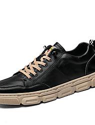 cheap -men sports comfy microfiber leather slip resistant casual skate shoes