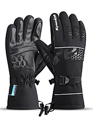 cheap -Winter Bike Gloves / Cycling Gloves Touch Gloves Anti-Slip Waterproof Warm Winter Sports Full Finger Gloves Sports Gloves Black for Adults' Outdoor Exercise Cycling / Bike