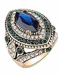 cheap -women ring - antique gold plated turkish style multi-colored gemstone vintage ring women jewelry j0769g (7)