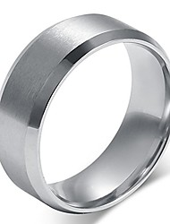 cheap -mens womens wedding bands classic 8mm titanium steel promise rings for him high polish comfort fit size 10