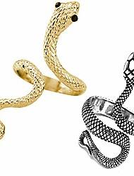 cheap -snake rings for women punk retro gothic finger rings adjustable open rings animal jewelry (setg)