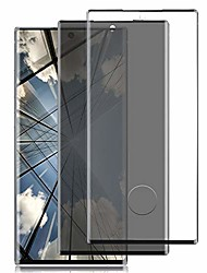 cheap -[2 pack] galaxy note 20 ultra screen protector, 3d full coverage anti spy bubble free scratch 9h hardness privacy/hd tempered glass screen protective film, for samsung galaxy note 20 ultra 5g