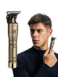 cheap -Golden Skull Engraving Electric Hair Clipper Men's Retro Oil Head Rechargeable Hair Clipper T9 Buddha Head Electric Hair Clipper